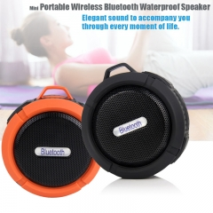 Ultra-portable Waterproof Speaker Mini Wireless Bluetooth Speakers with Mic Support Handsfree Calls Black 3.5inchX1.5inch