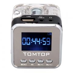 Mini Digital Portable Music MP3/4 Player Micro SD/TF USB Disk Speaker FM Radio