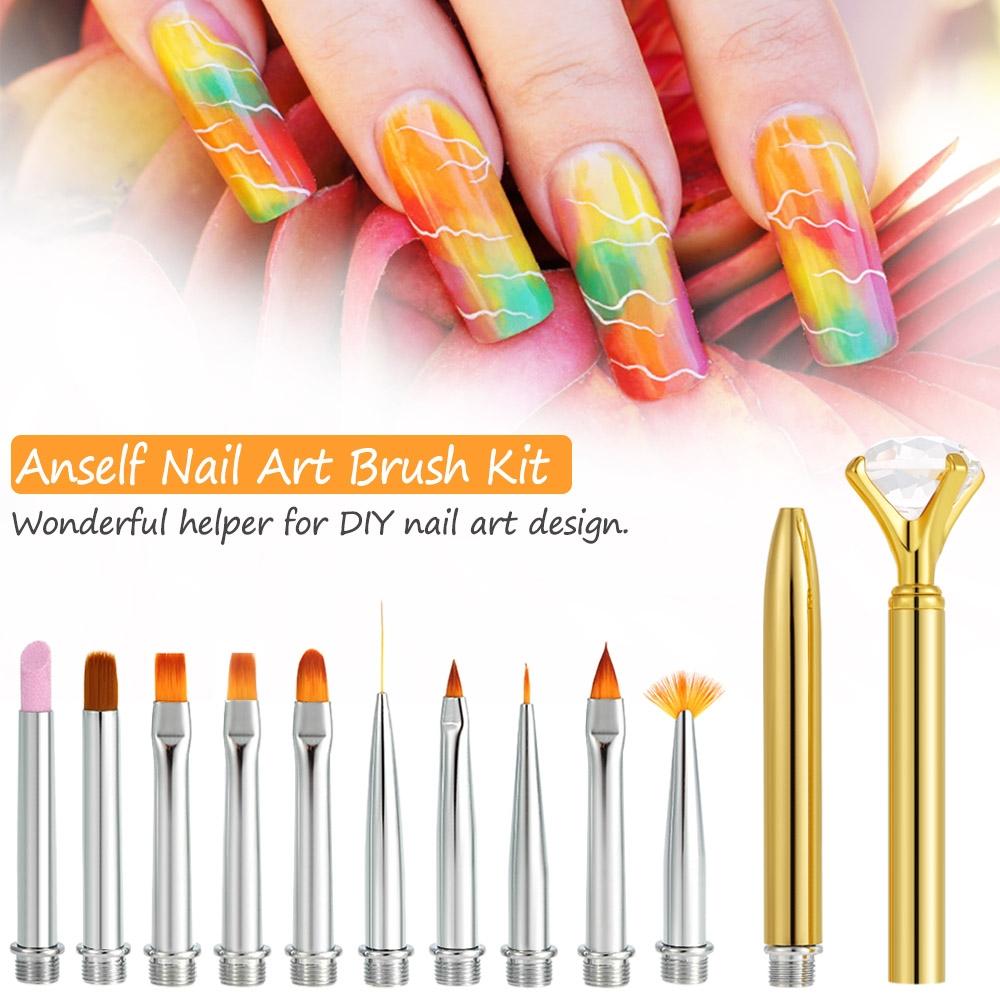 Kilimall Anself Nail Art Brush Kit Nail Art Design Pen Set Dotting