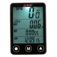 Multifunctional Wireless Touch Button LCD Bicycle Computer Odometer Speedometer black