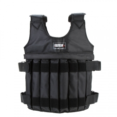 Adjustable Weighted Vest Jacket Boxing Training Waistcoat Invisible Weightloading Sand Clothing black