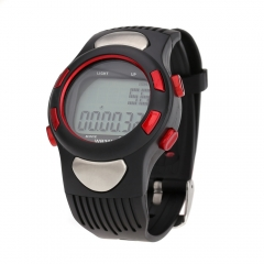 Water-resistant Sports Pulse Heart Rate Monitor Fitness Exercise Watch Pedometer Calorie Stopwatch Red one size