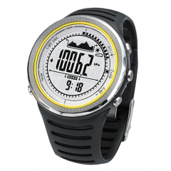 Sunroad FR802A 5ATM Altimeter Compass Sports Watch Barometer Pedometer Outdoor Sports Multifunction Black one size