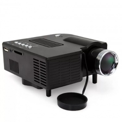 Portable Home/Office LED Projector Multimedia Home Movie TV Cinema Theater Support PC&Laptop BLACK 20CM