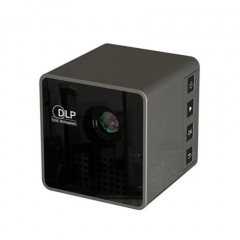 UNIC P1  DLP Portable Pocket Projector Digital LCD Support Home Theater Cinema Office With Battery black 3cm
