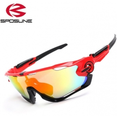 Outdoor Sport Men/Women SunGlasses Fashion Bicycle Riding Sunglasses Red 25