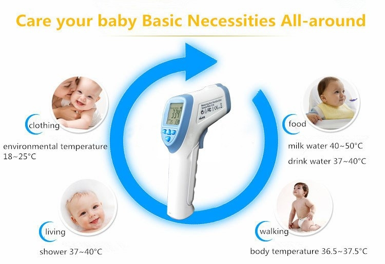 Baby  Medical Portable Digital Thermometer Infrared LCD Baby Care green 12cm 1