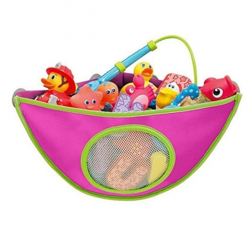 toys storage bag kids bath tub waterproof hanging storage bag organizer oxford bag pink. Black Bedroom Furniture Sets. Home Design Ideas