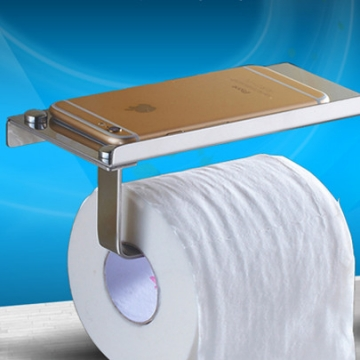Multifunction Toilet Roll Holder Tissue Bathroom Accessories Sliver  18cmX9cmX6.5cm