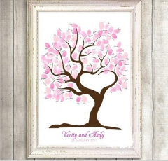 Wedding Gifts for Guests DIY Signature Guest Book one color 30cmx40cm
