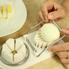 Cut eggs Tools Cook Cute Kitchen Gadgets Mini Holder white 8cmx19.3cmx3cm