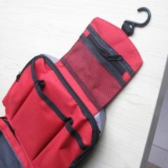 Multifunctional  Portable Wash Bag Storage Organizer Bag Travel Toiletries Cosmetic  Storage Bag red 22x16x7cm