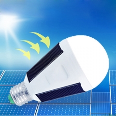Solar bulb Light,LED emergency bulb,Solar Panel Powered Light Bulb for outdoor indoor emergency White 13cm 7W