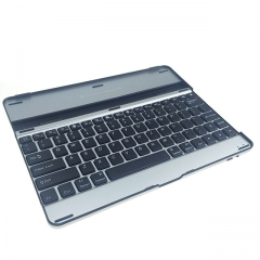Aluminium Wireless Bluetooth Keyboard For iPad 2/3/4 Black 24.5 x 19 x 1.2cm