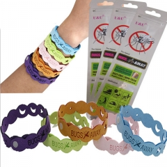 10PCS Mosquito Repellent Bracelet Safe Mosquito Killer No Chemical Material Bugslocks  ( 5 Colors) 5 Colors