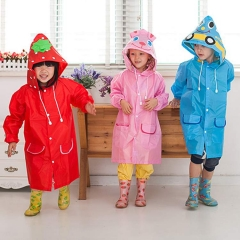 Waterproof Kids Rain Coat children Raincoat Rainwear/Rainsuit,Kids boy girl Animal Raincoat pink