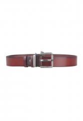 Leisure Fashion Classic Genuine Leather Belt Men Belts Business Metal Buckle Bronw 105cm