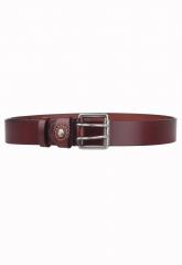Business Leisure Genuine Leather Belt Men Designer Belts Elegant Metal Buckle Bronw 105cm