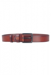 Leisure Fashion Genuine Leather Belt Men Belts Business Metal Buckle Bronw 105cm