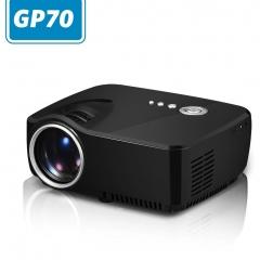 Portable GP70 Mini LED Projector HDMI Home Theater TV USB VGA Micro Projector(Black) black