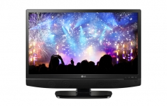 LG (24MT48A) IPS Analog Television - Black, 24 Inch TV