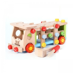 Mingta screw wooden car colorful A8016