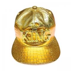 Crocodile pattern golden king  Hiphop Cotton Trucker Baseball Cap 6-12 years gold