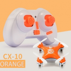 Cheerson CX-10  LED RC Quadcopter Toy Helicoptero with LED light Toys for Children orange normal