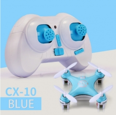 Cheerson CX-10  LED RC Quadcopter Toy Helicoptero with LED light Toys for Children blue normal