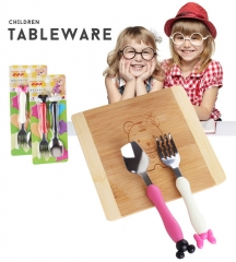 Stainless steel spork mickey Minnie custom cartoon children tableware red&blacke one size