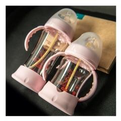 Wishful Wide Mouth Newborn Babies milk Bottle 150ml/250ml pink 250ml