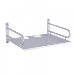DVD mini PC Set-top Box TV Router Wall-Mounted Storage Shelf Bracket Holder Stand Rack Sliver