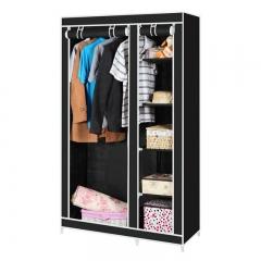 Large Capacity Portable Simple Wardrobe Closet Storage Organizer Closet Black