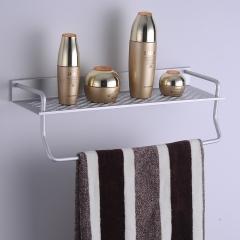 bathroom towel shelf towel rack bathroom accessories wall mounted slivery 40cm