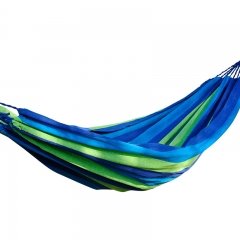 Multi-functional Portable Parachute Hammock Outdoor Canvas Fabric Hammock Blue