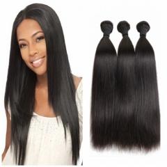 8A Brazilian virgin hair 100%human hair weave straight like silk  3pcs 100g/pc 8-30inch nature black 8 8 8 inch