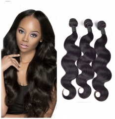 8A Brazilian virgin hair 100%human hair weave body wave 3pcs 100g/pc 8-  30inch nature black 8 8 8 inch