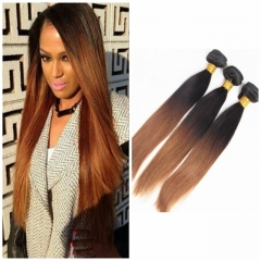 8A Brazilian Virgin Hair 100%Human Hair Weave 2 Tone Colors 1B 30 Straight 3pcs 100g/pc 12-26inch 1b/30 12 12 12 inch
