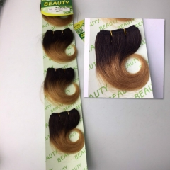 New Style 6 inch Pretty Cute Human Hair Body Wave 2 Tone Color 1B 27 100g/pack 1b/27 1 pack(6inch)