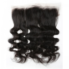9A Brazilian Virgin Hair Good Quality 100%HumanHair Body Wave Lace Frontal 13X4 Black 8-20inch nature black 8 inch