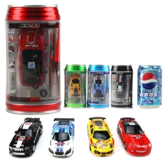 Mini cans charge remote control speed sports car Coke tank mini remote control car random one size