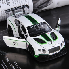 Children toy simulation car model toys Bentley GT3 white one size