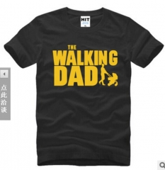 Walking Dad Fathers Day Gift Men's Funny T-Shirt T Shirt Men Short Sleeve Cotton Novelty Top Tee black+yellow xl