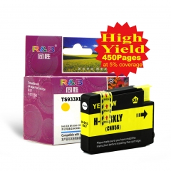 Ink Cartridge 933XLY Yellow With HP officejet 6100 6600 6700 7110 7610 7612