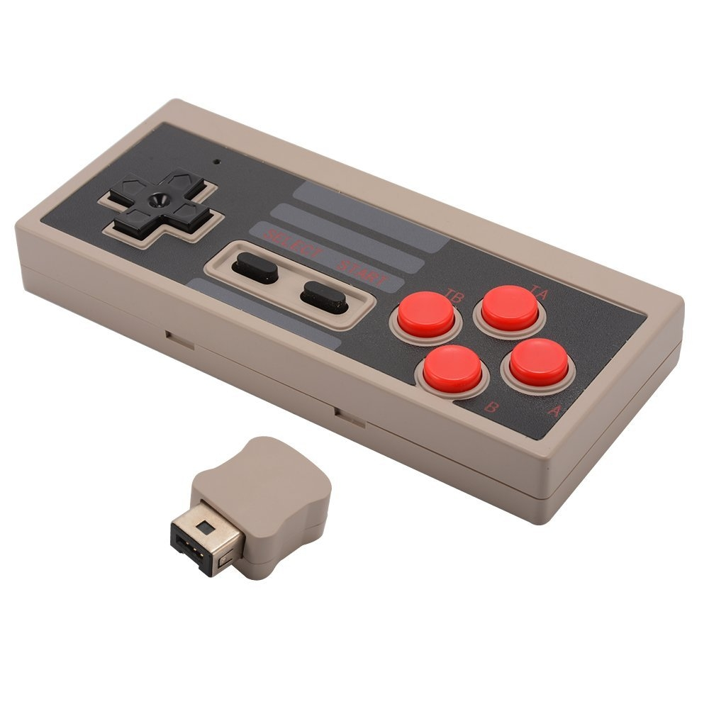 Wireless Nes Game Controller Gamepad For Nintendo Nes Mini Classic Edition Grey 1 505266
