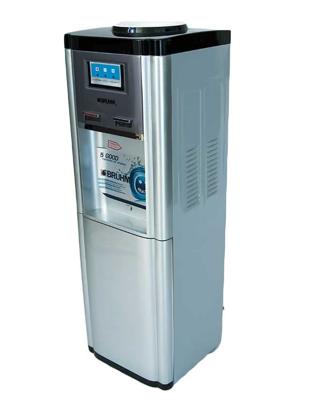 BRUHM BWD HC60E Water Dispenser with Electric Cooling, 2 Faucets, Silicon Pipes S/S Tank