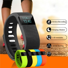 Bluetooth Smart Watch Bracelet Wearable Waterproof Pedometer SmartWatch For IOS Android Fitness black standard