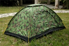 Outdoor Camping Waterproof 4 Seasons Folding Tent Camouflage Hiking Tent Camouflage Color 190*170*240cm