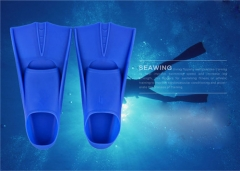 Swimming Silicone Diving Equipment Flippers Swimming Fins Blue-XS free size