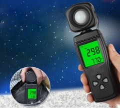 Illuminance Meter  Portable Illuminance Meter Digital Photometer Luminance Meter Black